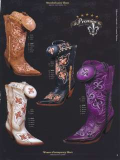 Leather Western Cowboy Boots w/ Fashion Design Diff. Colors/Sizes