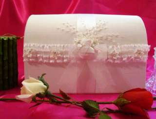 White Custom Made Wedding Card Box