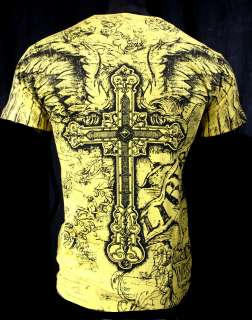 CROSSES AND SAINTS ROYAL ARMOR T SHIRT FALLEN ANGEL MMA MENS ALL