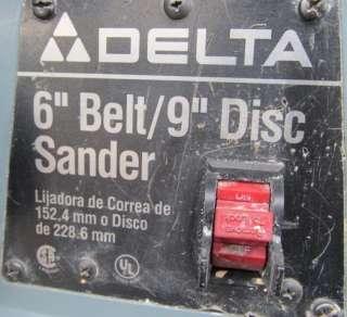DELTA 6 BELT 9 DISC SANDER MODEL 31 695 *1 HP MOTOR*