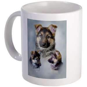 German Shepherd Puppies Pets Mug by   Kitchen