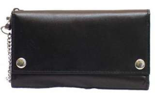 Mens Tri fold Genuine Leather Truckers Wallet # 4695