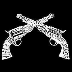 Los Angeles Pop Art Womens Crossed Pistols T shirt