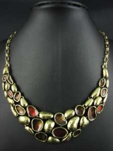 Tibet Gold Tone Wedding Party Elegant Jewelry Necklace Chains MS1961