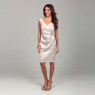 London Times Womens Fawn Cap sleeve Dress