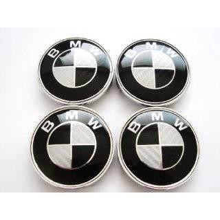 Set of 2 BMW HOOD & TRUNK BMW Real Carbon Fiber Emblems Automotive