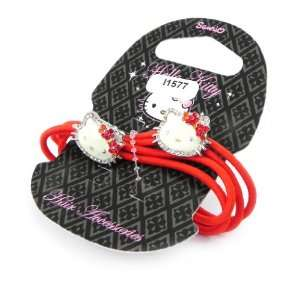 Bracelets child Hello Kitty Diamonds red. Jewelry