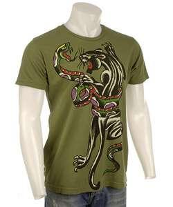 Ed Hardy Mens Snake Panther T shirt