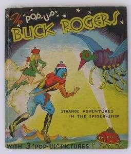 Original BUCK ROGERS SPIDER SHIP POP UP BOOK, 1935 VG