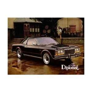1978 DODGE DIPLOMAT Sales Brochure Literature Book