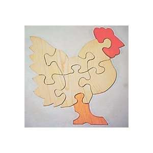 Wooden Educational Jig Saw Puzzle   Chicken ( Hen ): Toys & Games