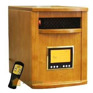 Cabinet OAK 1500W Portable Quartz Infrared Heater w/ wheels 5600BTU