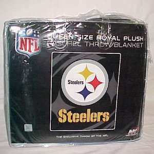 Licensed Pittsburg Steelers King Size Super Plush Mink Blanket