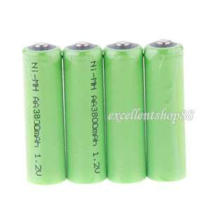 New 4x Rechargeable AA Battery 3800 mAh Ni MH 1.2V