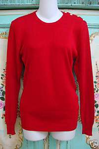 RALPH LAUREN RED Purple Label Couture Sweater SILK M