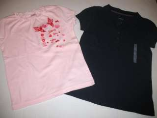 Gymboree Pink Heart Valentines Day Shirt Old Navy Blue Polo Lot 6 6X