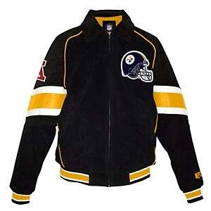 Steelers NFL Suede Varsity Jacket by GIII NEW XL