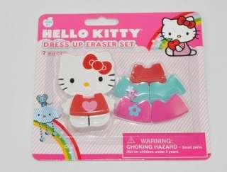 Hello Kitty dress up eraser set,super beautiful,one set