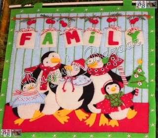 PEPPERMINT PENGUINS Felt Christmas Wall Hang Kit   Mumm