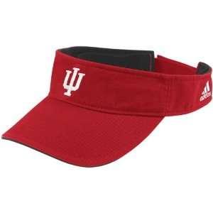 Indiana Hoosiers Red Basic Logo Adjustable Visor