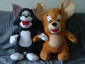 TOM CAT AND JERRY MOUSE BIG PLUSH STUFFED TOY 27.5