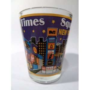 New York City Times Square Shot Glass  Kitchen & Dining