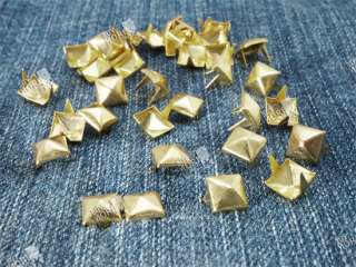 Pyramid Studs Leathercraft DIY Goth Punk Spikes Spots x100pc