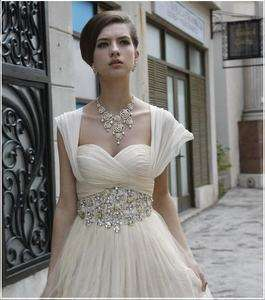 bridesmaid wedding dress prom evening gown Short Sleeve sweetheart