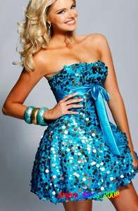 Mini Blue Cocktail/Party Dress Girl Birthday Prom Evening Dress/Gown