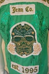Laguna Beach Jeans Co Sunset Short Sleeve Shirt Large Green NWT~L