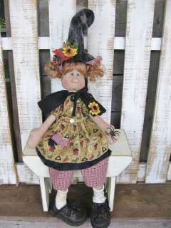 Country Primitive Halloween Gangly Gretta Witch doll Paper Pattern