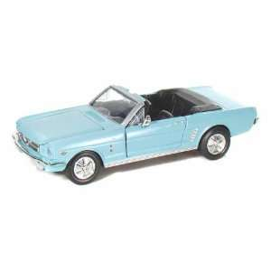 1964 1/2 Ford Mustang Convertible 1/24 Light Blue Toys