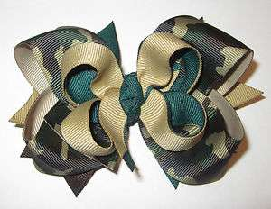 Camo Boutique Hair Bow Camoflage Toddler Baby Hairbow