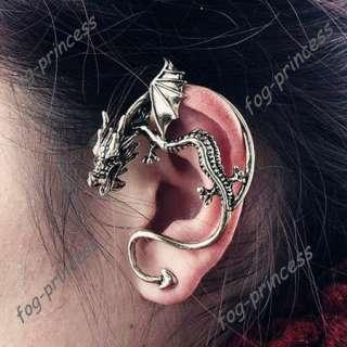 Gothic Earring/Vintage Antique Bronze Dragon'S Lure Ear Cuff Warp