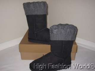 NEW UGG Australia Womens Tularosa Route BLACK Detachable BOOTS Size 7