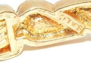 SAL Swarovski rhinestone enamel bangle BRACELET costume jewelry