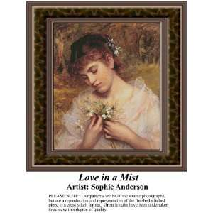 Love in a Mist, Counted Cross Stitch Patterns PDF Download