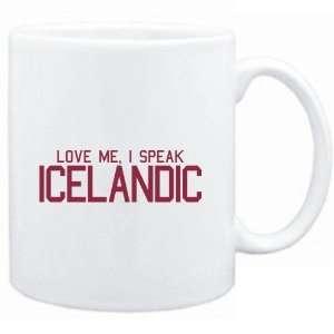 Mug White  LOVE ME, I SPEAK Icelandic  Languages  Sports