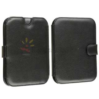 Simple Touch/GlowLight Reader Black Leather Cover Case Pouch