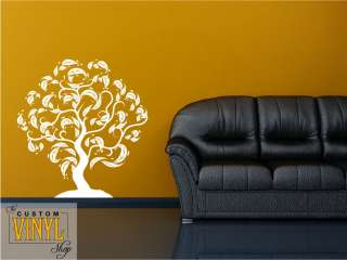 Curvy Tree   Modern Vinyl Wall Decal Sticker Decor Art