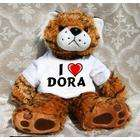 wearing mr backpack very cute and lovely dora small plush toy