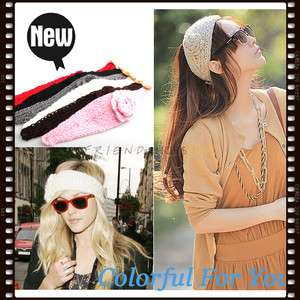New Hot Beauty Knit Headband Hair Band Warm Crochet Flower