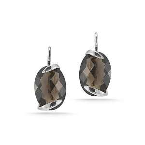 with an Oval Shaped Semi Precious Smokey Topaz Color Stone. Jewelry