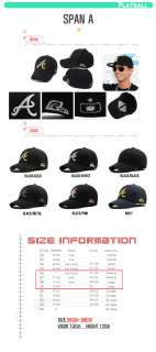 MEN FLEXFIT BASEBALL TEAM A LOGO HAT BALL CAP BLACK/BLACK