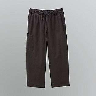 Womens Elastic Waist Cargo Capri Pants  Basic Editions Clothing Women