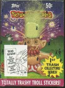 Trash Can Trolls Stickers 1992 Topps Box 36 Packs #350