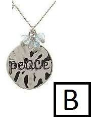 18kt White Gold Layered Inspirational Charm Necklace