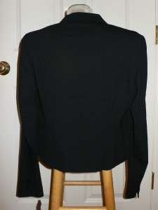 Donna Karan Black Label Black Wool Jacket $825 NWT 12