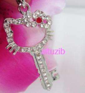 4pcs hello pendant necklace kitty red key xmas gift #29