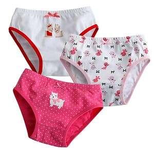 NEW Vaenait Baby Girl 3 pack of Underwear Briefs Pantie Set  Puppy